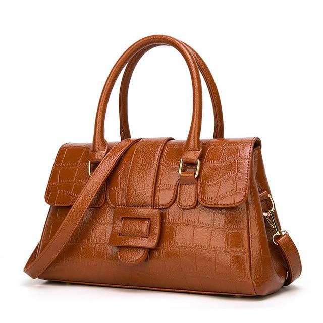 deec0beb261a Boston Luxury Handbags Women Bags Designer Alligator Pattern Leather Tote  Bag Famous Brand High Quality Ladies