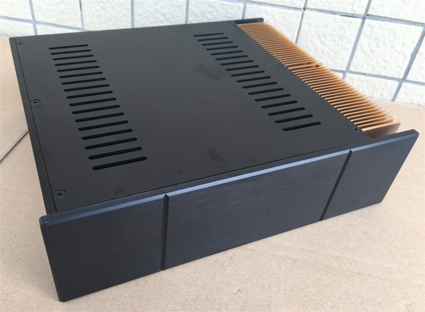QUEENWAY Z004b Single side radiate CNC full aluminum DIY Audio box / power amplifier case 320mm*90mm*268mm 320*90*268mm queenway audio 2215 cnc full aluminum amplifier case amp chassis box 221 5mm150mm 311mm 221 5 150 311mm