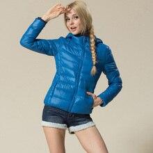 ac41c4cce414 Nouvelle Hiver veste Femme de Survêtement Mince À Capuchon Vers Le Bas  Veste Femme chaud Vers