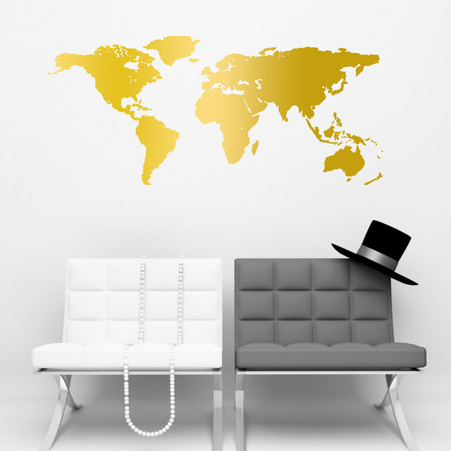 new world map vinyl wall sticker for kids rooms home decor living