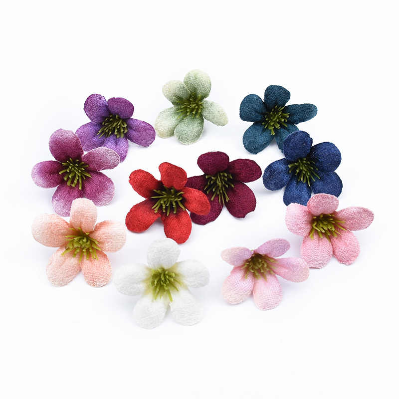 20 قطعة زينة عيد الميلاد للمنزل الزفاف لتقوم بها بنفسك صندوق هدايا الحرير فراشة السحلية وهمية السداة سكرابوكينغ الزهور الاصطناعية