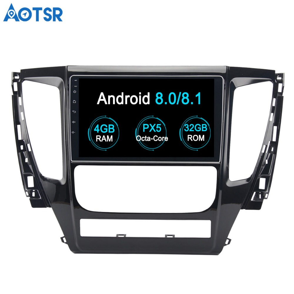 Aotsr Android 8 0 Car DVD Player GPS Navigation For MITSUBISHI PAJERO Sport 2016 2017 2018