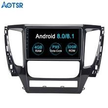 Aotsr Android 8,0 DVD плеер автомобиля gps навигации для MITSUBISHI PAJERO Sport 2016 2018 2017 блок стерео радио мультимедиа