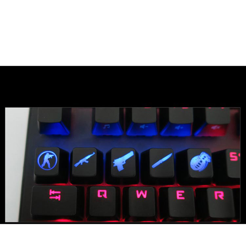 Image 3 - SIANCS DIY CS GO Gaming keycaps Key Button CSGO key caps game keycap Game Accessories Mercy ABS Cap for Mechanical keyboard-in Keyboards from Computer & Office