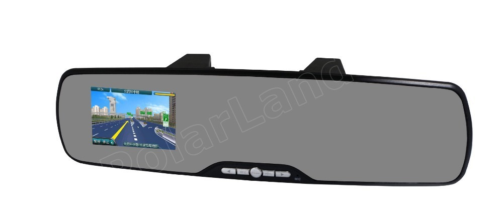 2,7 pulgadas HD espejo de revisión de coche grabadora de vídeo Digital 120 grados gran angular visión nocturna detección de movimiento coche DVR - 2