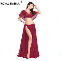 Hot Sale Free Shipping 2019 New Women's belly dance set costume belly dancing clothes sexy fashion bellydance Top&skirts ZH8811