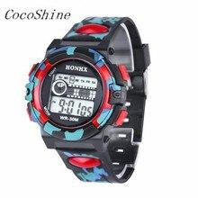 CocoShine A-777  Fashion Mens Digital LED Analog Quartz Alarm Date Sports Wrist Watch Waterproof wholesale Free shipping