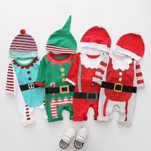 Winter Baby Body Christmas Korean Kids Clothes Baby Winter Onesie Warm Romper Kids Halloween Toddler Costume Newborn Romper A306 недорого