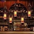 IWHD Ретро освещение для помещений винтажная бутылка подвесной светильник Светодиодные светильники железная клетка абажур американский сти...