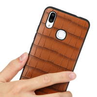 Bamboo pattern phone case for vivo X21 Cowhide stitching mobile phone case magnetic adsorption all inclusive mobile phone case