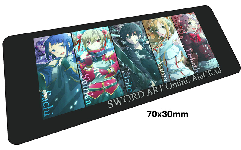 Sword Art Online pad mousepad 700x300X3MM gaming mouse pad big gamer mouse mat Fashion pad game computer desk padmouse keyboard