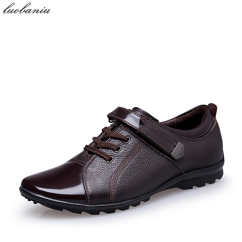 38-47 Patent Leather Men Oxfords Shoes For Men Dress Shoes Formal Plus Size High Quality