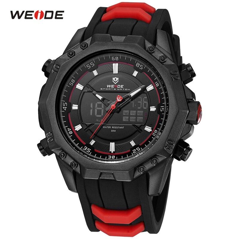 WEIDE Quartz Men Watches Men Luxury Brand Army Military Quartz-Watch Sport Wrist Watches Auto Date Watch Relogio Masculino