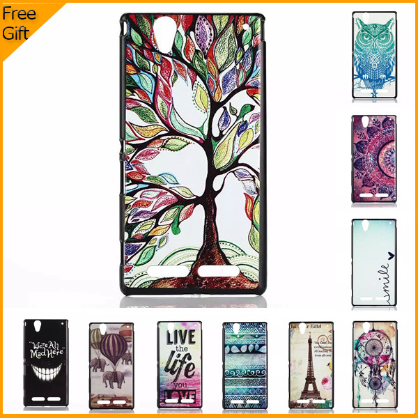 2015 Luxury 3D Cartoon Pattern Cell Phone Case Cover Sony Xperia T2 Ultra Dual D5322 D5303 XM50h Cases Hard Shell Back - Shenzhen Colorful Technology Ltd. store