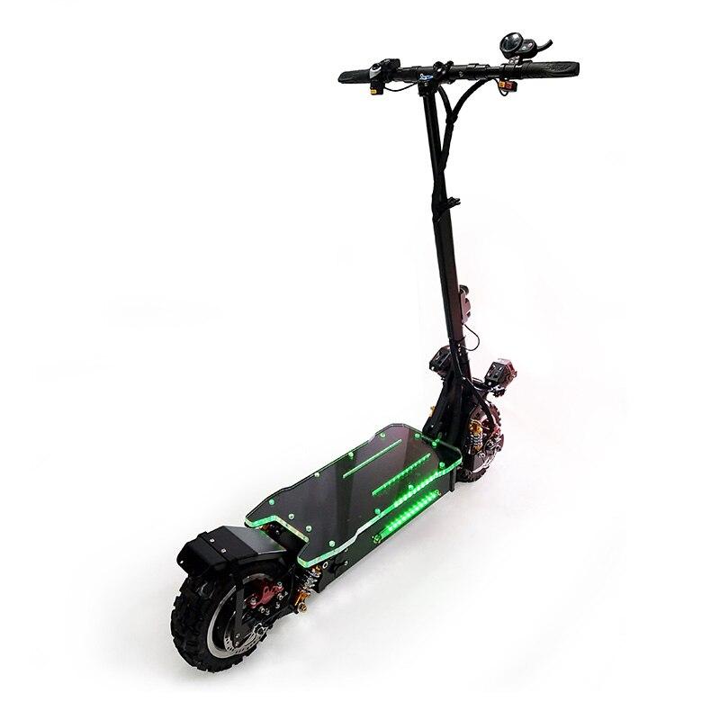 Scooter électrique puissant de 3200 W outre du Scooter électrique adulte de Longboard de planche à roulettes de route Scooter professionnel pliable électrique - 4