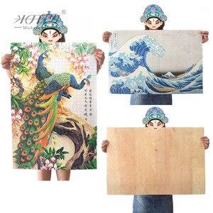 Image 5 - ミケランジェロ木製ジグソーパズル 500 1000 1500 2000 個の都市ビッグ魚漫画動物教育玩具絵画芸術の装飾