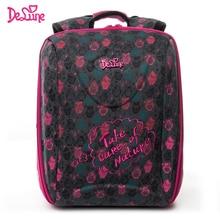 Delune Brand Kids Waterproof Reflective School Bags 1-3 Grade Children 7-series Orthopedic Backpacks for Girls Schoolbags