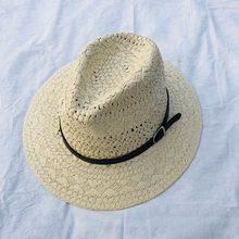 Oco chapéu de palha Chapéus De Vaqueiro da Palha Sunhats Praia Ocidental  Sentiu Cap Festa para o Homem Mulheres 4 cores do verão. 6bbc4d3823f