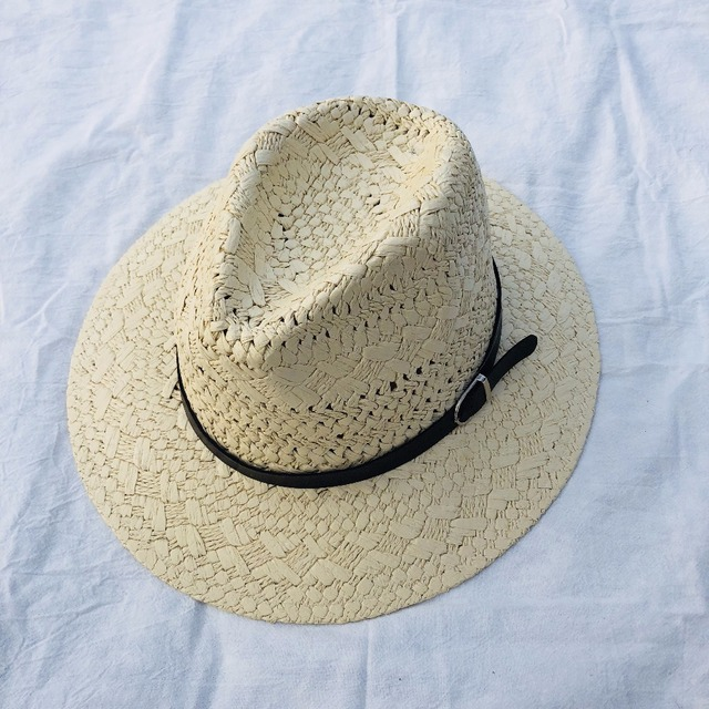 3d85449e06a Hollow straw hat Straw Cowboy Hats Western Beach Felt Sunhats Party Cap for  Man Women 4colors