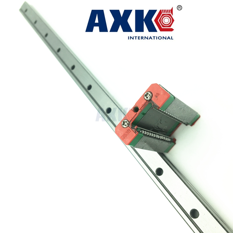 AXK Free Shipping 12mm Linear Guide Mgn12 L= 100/200/300/400/500mm + Slide Mgn12c Or Mgn12h Long Carriage For Cnc X Y Z Axis axk mr12 miniature linear guide mgn12 long 400mm with a mgn12h length block for cnc parts free shipping