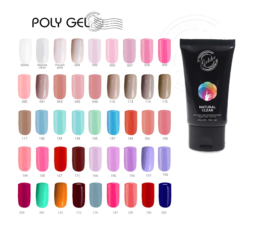Gelike 30g Last For 3 Weekends UV Led Soak Off Gel Nails Gel Polish Poly Gel LED UV Nail Art r Quick Building Nail in Nail Gel from Beauty Health