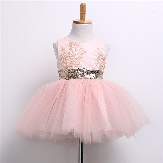 b76bb01a2148f US $8.35 5% OFF|0 10T New Fashion Sequin Flower Girl Dress Party Birthday  wedding princess Toddler baby Girls Clothes Children Kids Girl Dresses-in  ...