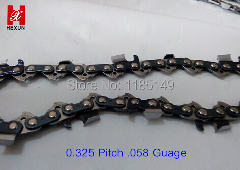 Hardware Chainsaw Chain .325Pitch  .058 Guage import raw material 1640 Link 100Feet/Roll chain enclose 25 foot empty spools