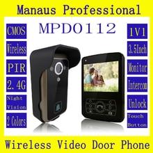 D112b Smart Home 1V1 Wireless Intercom One to One Video Door Phone 2.4G Digital PIR Detection Video Door Peephole Camera