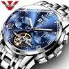 NIBOSI Top Luxury Brand Classic Men S Watches Mechanical Wristwatch Sapphire Stainless Steel Gentleman Watch Fashion