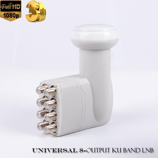 Universal 8 output LNB full hd digital universal ku band 8 output lnb high quality original for satellite tv DVBS2 8 output lnb