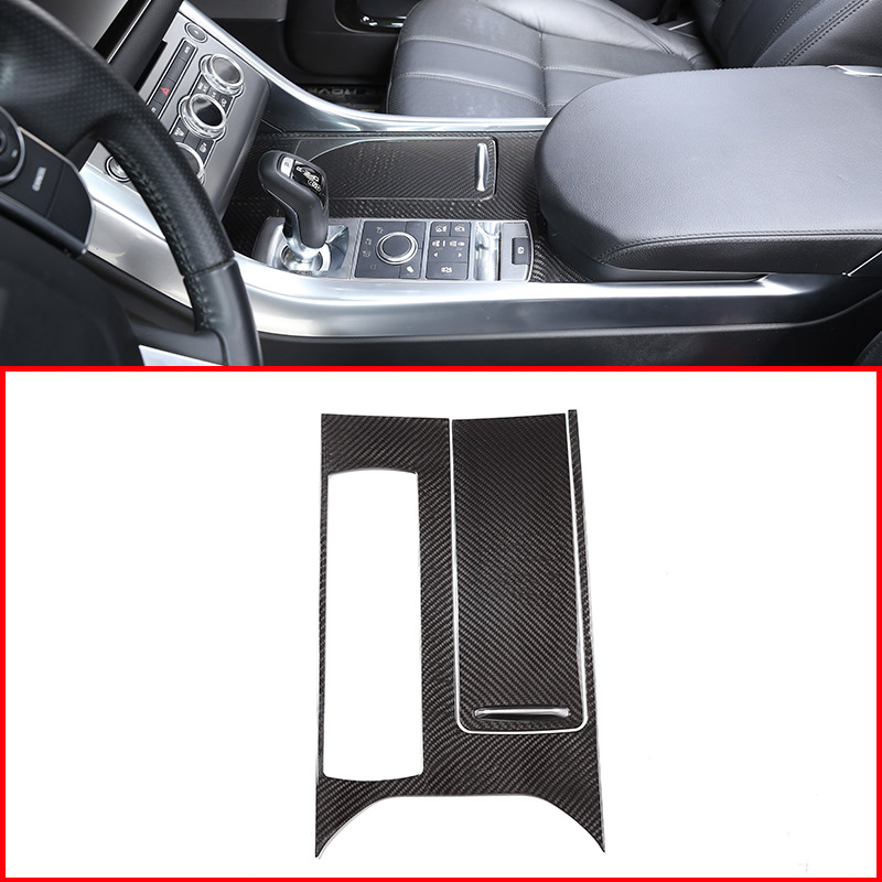 Carbon Fiber Style ABS Plastic Center Console Panel Cover Trim For Rangerover Sport 2014-2018 Left Hand Drive