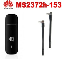 Unlocked Huawei MS2372 Stick MS2372h 153 with 2 pcs Antenna 150Mbps 4G LTE USB dongle datacard With Sim Card Slot 4G Modem carfi