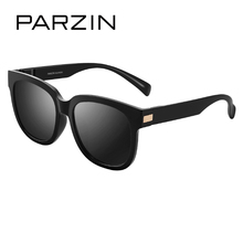 PARZIN Brand Large Square Frame Retro Polarized Sunglasses Women's Fashion Colorful Eyewear Men's Driving Glasses 9861