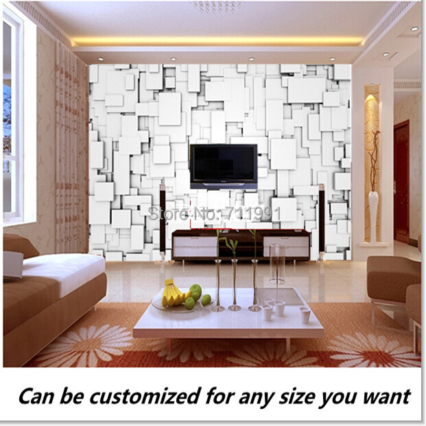 Free shipping custom modern 3d design from white blocks for Zoom room design