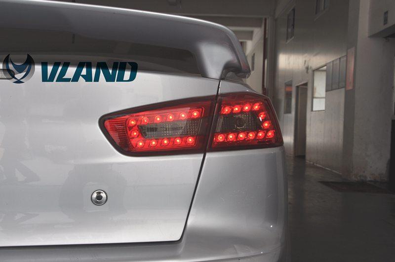 VLAND фабрика для автомобиля задний фонарь для Lancer светодиодный фонарь 2008 2015 Lancer хвост лампы с DRL + обратный + тормоз