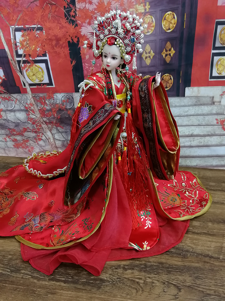 12 Collectible Chinese Bride Dolls Traditional Gorgeous Girl Doll With Flexible 12 Joints Body Souvenir Birthday Gifts