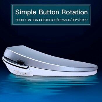 Beheizter Toilettensitz   Smart Einfache Knopf Intelligente Wc-sitz Längliche Elektrische Bidet Abdeckung Bidet Wc Sitze Heizung Sitzt Led Licht Wc K1