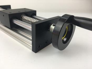 100mm Effective Stroke Travel Length 12mm Linear Guide Rail 1204 1605 1610 Ball Screw Linear Rail CNC+Manual Hand Platform