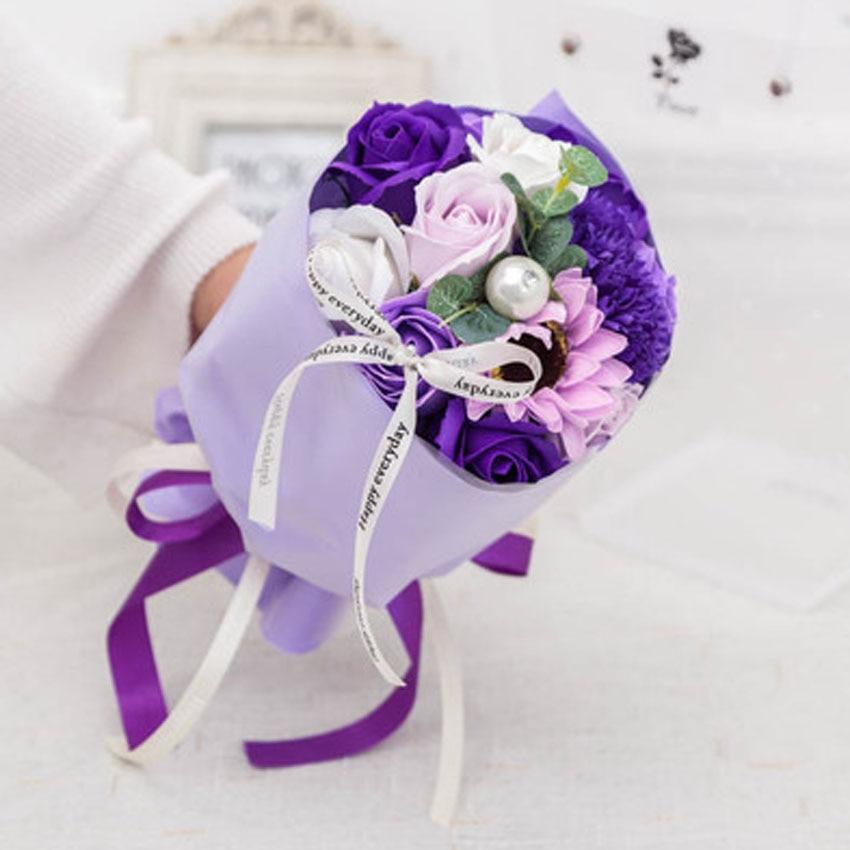 Nouveau bouquet simulé savon roses savon festival activités mariage saint valentin cadeaux créatifs décorations pour la maison LINTINGHAN - 4