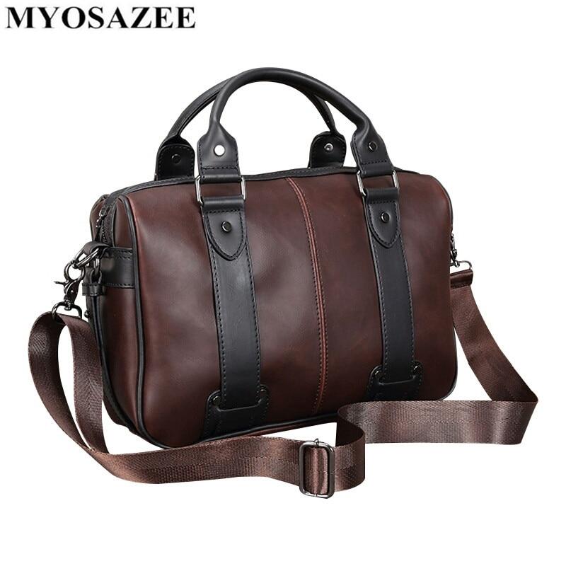 Brand Male Bag PU Leather Briefcase Men Business Handbag Travel Messenger