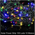 Solar RGB Led Strip ip65 Waterproof 10M 100Led/M Led Strip Light 2V Fita Led String Stripe Bar Neon Bombillas Led Lamp