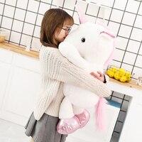 1pc 60/80cm Kawaii Unicorn Plush Toys Giant Stuffed Animal Long plush Unicorn Soft Doll Home Decor Lovers Birthday Baby Gift