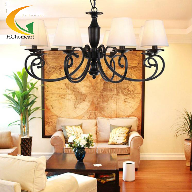chandeliers living room modern chandelier led Jane European style pastoral iron chandelier Restaurant bedroom lamps цена и фото