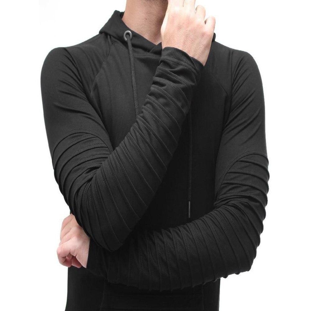 1d28545ecbf5 De los hombres con estilo sudaderas con capucha de manga larga de Color  sólido delgado con capucha prendas de vestir exteriores hombre Otoño e  Invierno ...