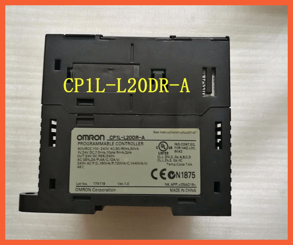 L20DR CP1L-L20DR-A Original New PLC CPU 100-240VAC input 12 point relay output 8 point OMRON PLC CONTROLLER , PLC MODULE no name ascu