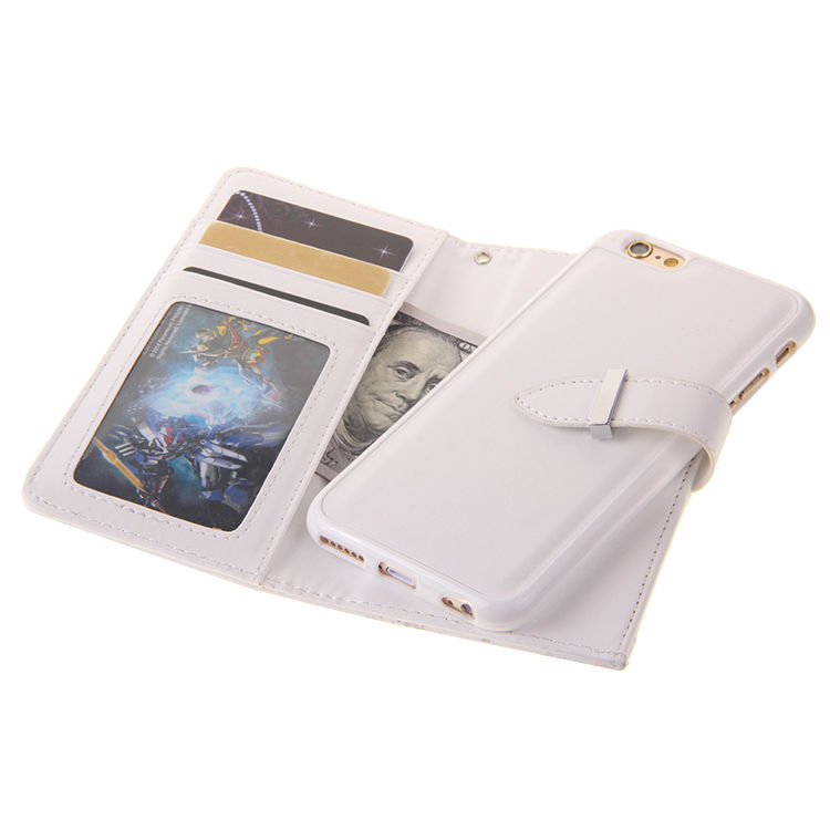XINGDUO Magnet blixtlås läder plånbok avtagbar - Reservdelar och tillbehör för mobiltelefoner - Foto 3