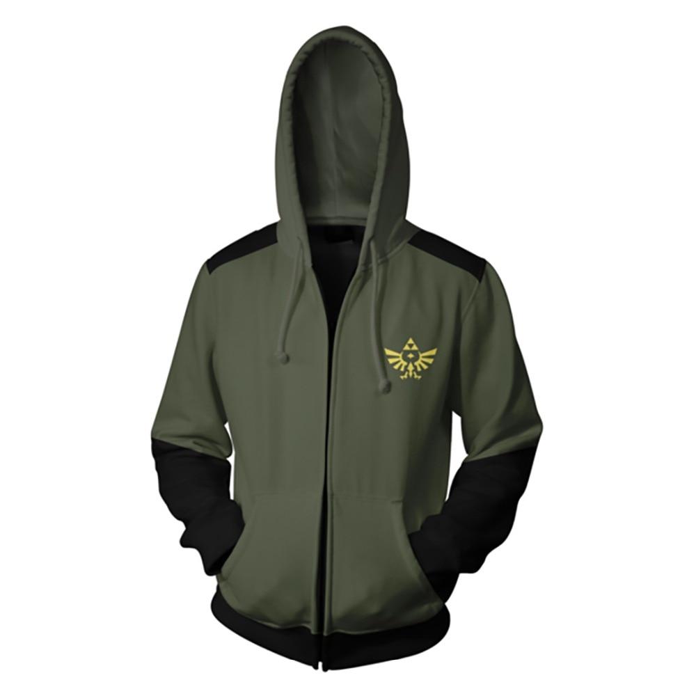 The Legend of Zelda Costume END Sweatshirts Cosplay Autumn Men European and American 3D Printing zipper Jacket Hooded sweater
