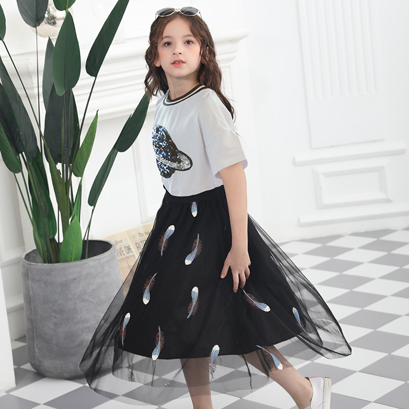 Children Clothing 2019 Summer Teenage Girl Clothing T Shirt+Skirt Outfit  Kids Clothes Suit For Girls Clothing Sets 10 12 14 Year Clothing Sets  -  AliExpress