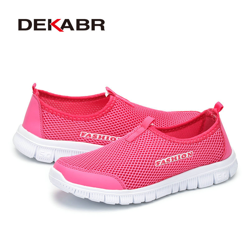 DEKABR Brand New Arrival Summer Fashion Shoes Woman Casual Mesh Breathable Shoes Light Weight Unisex Couple Footwear Woman Shoes
