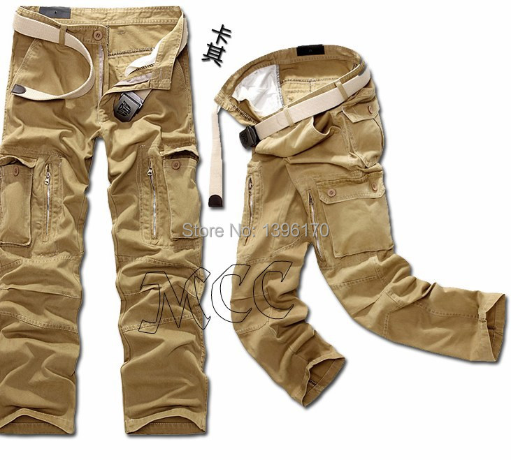 MIXCUBIC brand army tactical pants Multi-pocket washing 100% cotton army green camouflage cargo pants men plus large size 28-40 17